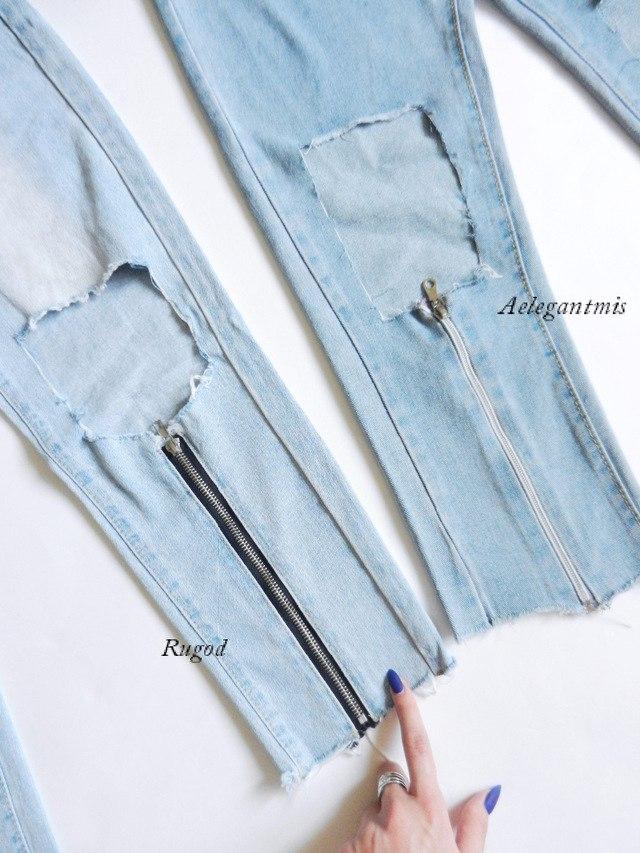 Две пары джинсов схожих по стилю от производителя RUGOD и Aelegantmis