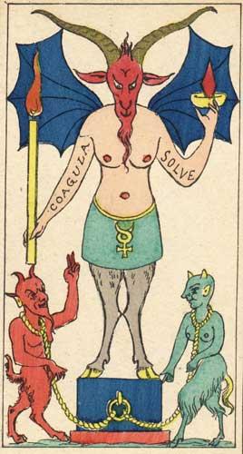 значение 15 аркана таро дьявол система тота алистера кроули