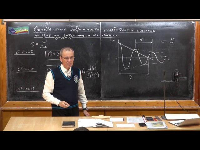 Урок 346 Определение добротности по графику затухающих колебаний