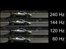 Slow motion 240Hz vs 144Hz vs 120Hz vs 60Hz - Monitor refresh rates