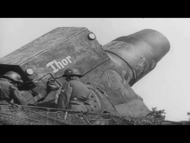 Zugkanone 80 cm Kanone and Thor of the Wehrmacht knocking out Maginot line and Sevastopol
