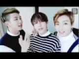 BTS Rap Monster, V, &amp Jungkook 'heart' battle on v l i v e