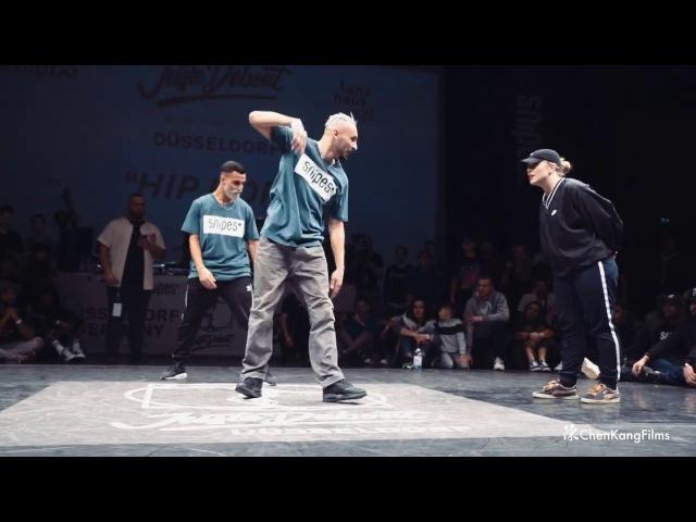 Juste Debout 2017 Germany | Hip Hop 1/2 | Ukay Majid vs Calipso Gifty