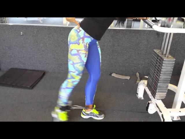 Тренировка ягодичных на блок машине/ Glute workout on the cable machine