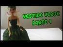Vestido Verde a crochet para Muñeca Parte 1