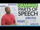 Basic English Grammar Parts of Speech noun verb adjective pronoun adverb