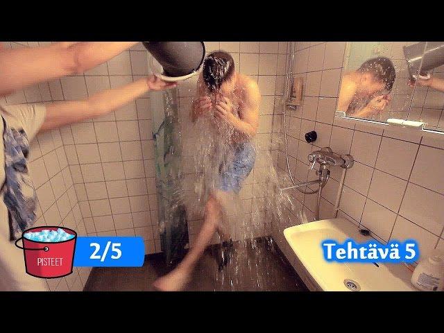 10 second challenge/Jäävesiämpäri-haaste!! - Nenäpäivä