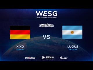 [RU] Xixo vs Lucius, 2016 WESG HS Grand Final presented by Alipay