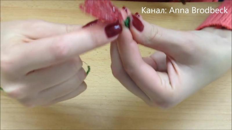 Декабрист - цветок. Рождественник. Schlumbergera out of beads