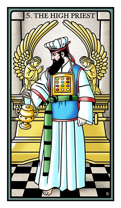 толкование значение карты таро верховный жрец папа таро тота