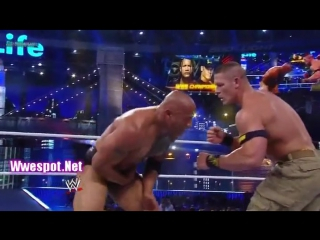 The Rock vs John Cena WWE Championship Match at WrestleMania 29