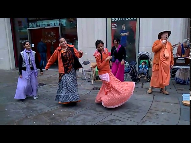 HH Bhakti Caitanya Swami at the Sacred Street Party - 22.7.17