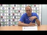 Послематчевая пресс-конференция главного тренера ФК «Динамо-Санкт-Петербург-2»