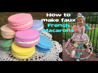 How to make faux French Macarons (Fake Food Craft Tutorial)