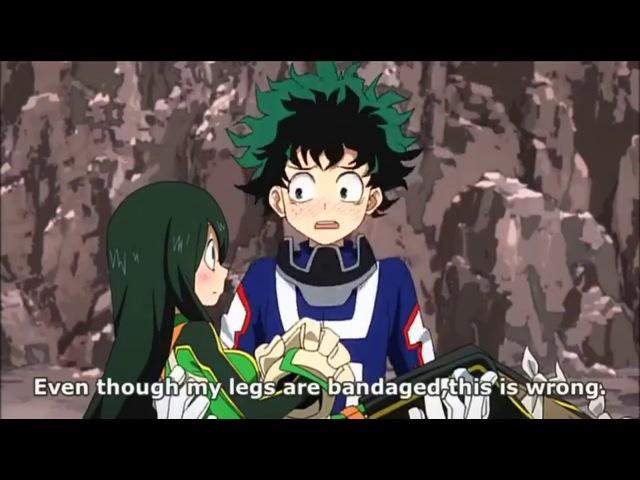 Boku no hero academia Deku X Tsuyu hint The rescue training