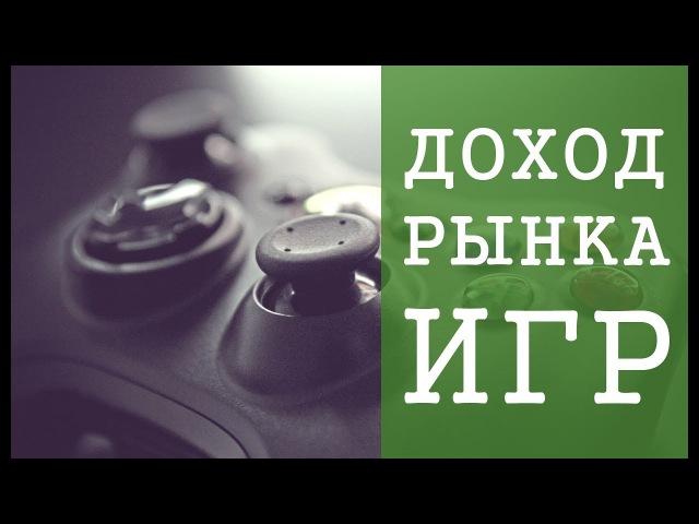 Доход игровой индустрии в мире / Статистика геймдева / Флатинго