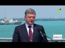 Визит президента на флагман украинских ВМС «Гетман Сагайдачный»