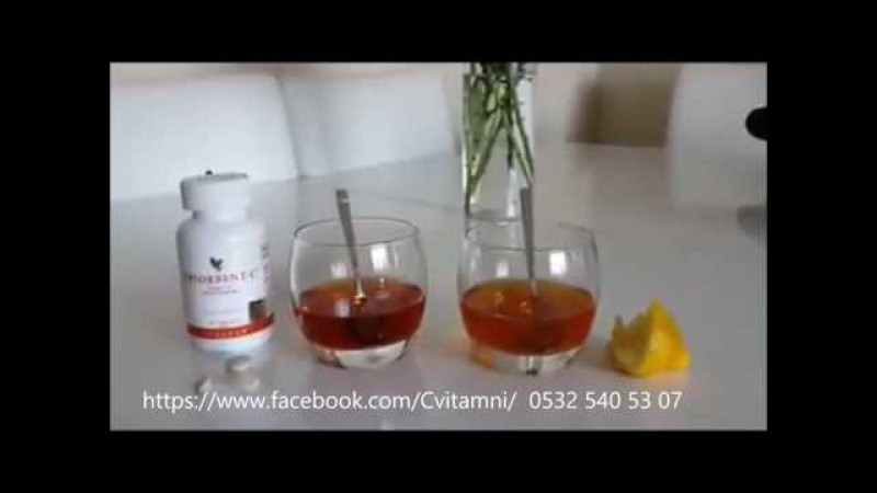 Absorbent C Vitamini Testi Neden Forever C vitamini Tavsiye Ediyoruz