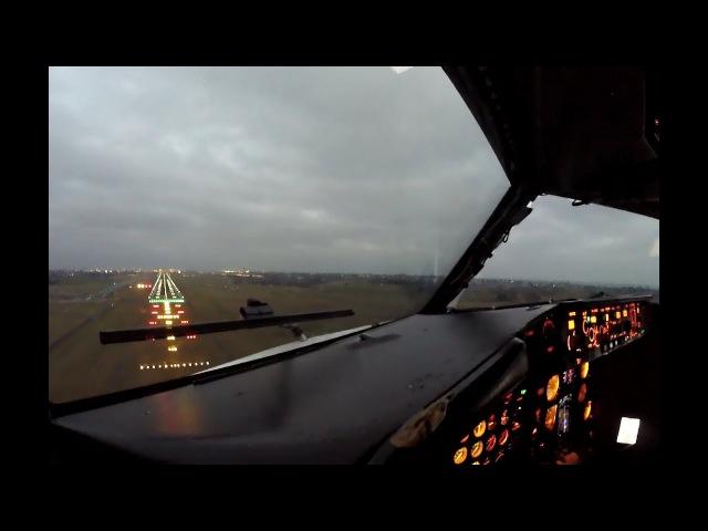 HD Crosswind landing in Vienna LOWW VIE RWY34