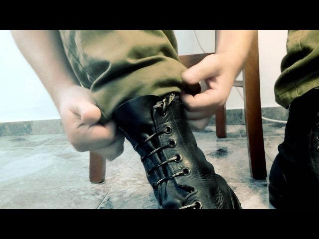 Как правильно шнуровать ботинки ЦАХАЛ