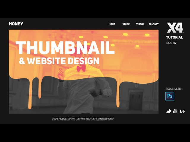 Photoshop Tutorial Thumbnail Design Website design by Swerve™