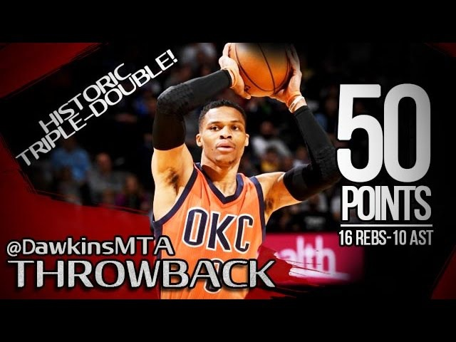 Russell Westbrook HISTORIC Triple-Double 2017.04.09 at Nuggets - 50 Pts, 16 Rebs, 10 Ast, UNREAL!