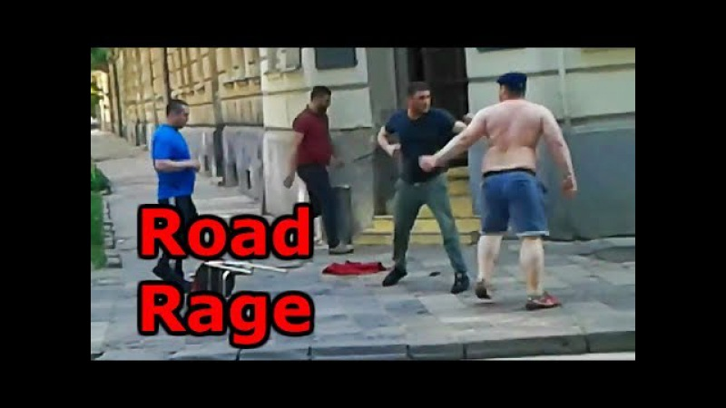 Driver's boxing and wrestling on the road 33 Russian spectacular
