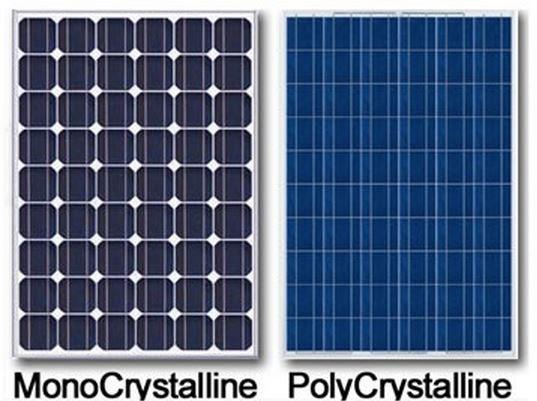 Моно и поли солнечная батарея