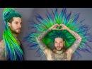 WOOL DREADS HAIR TRANSFORMATION - TROPICAL SET  RASTAS DE LANA by @peacockdreamshair ♡ Trew Unicorn