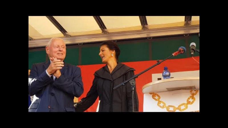 Saarbrücken 19.9.2017 - Dr. Sahra Wagenknecht und Oskar Lafontaine hielten brillante Wahlkampfreden