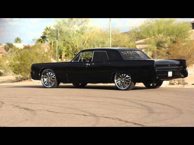 Only Murdered Out 64 Lincoln Continental on 24's!!