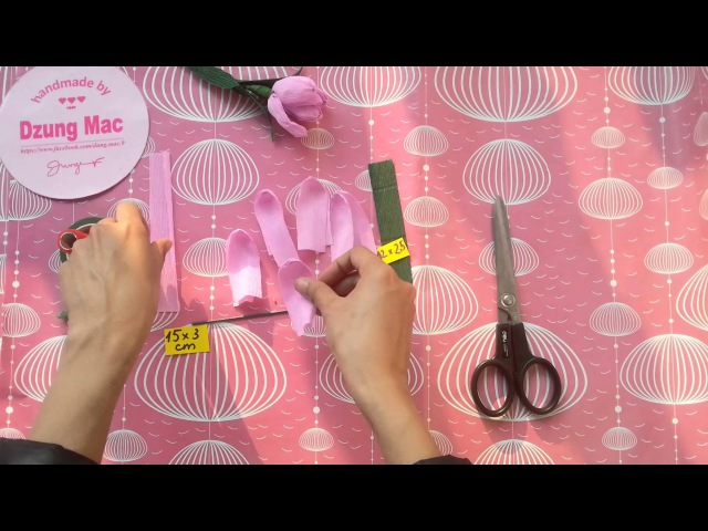 How to make beautiful paper tulip flowers / DIY craft