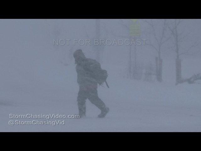 Watertown, NY Complete Whiteout Blizzard - 1/5/2017