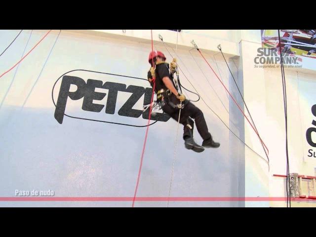Acceso por cuerda - Técnica paso de nudo en muro I - SUR Company