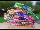 DIY How to make an Aztec style friendship bracelet Step by Step tutorial boho Creative Twins
