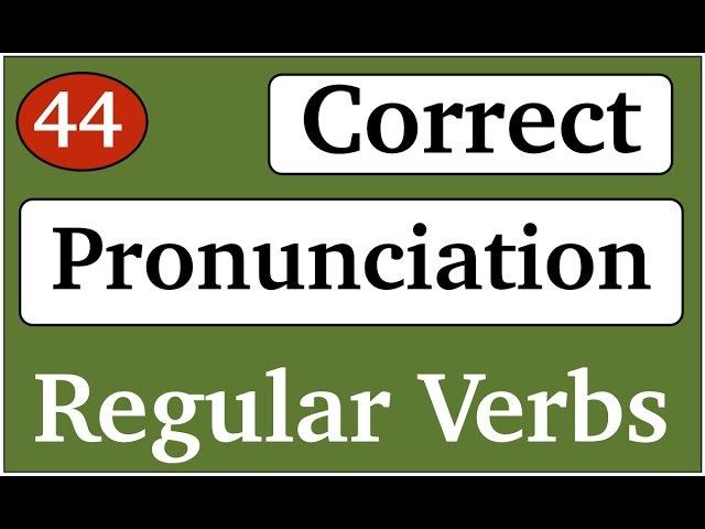 Regular verbs Past Simple Correct pronunciation English with Alice Английский для начинающих