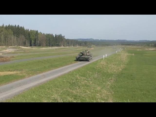 AMX-56 Leclerc сrushed car