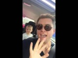 Taron Egerton lip-syncing to Abba in Aberystwyth