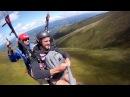 Полет на параплане в тандеме с горы Гемба, Боржава, Карпаты, Пилипец, Украина, 08.08 .