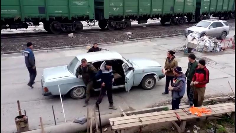 Башкирская бригада едет на работу