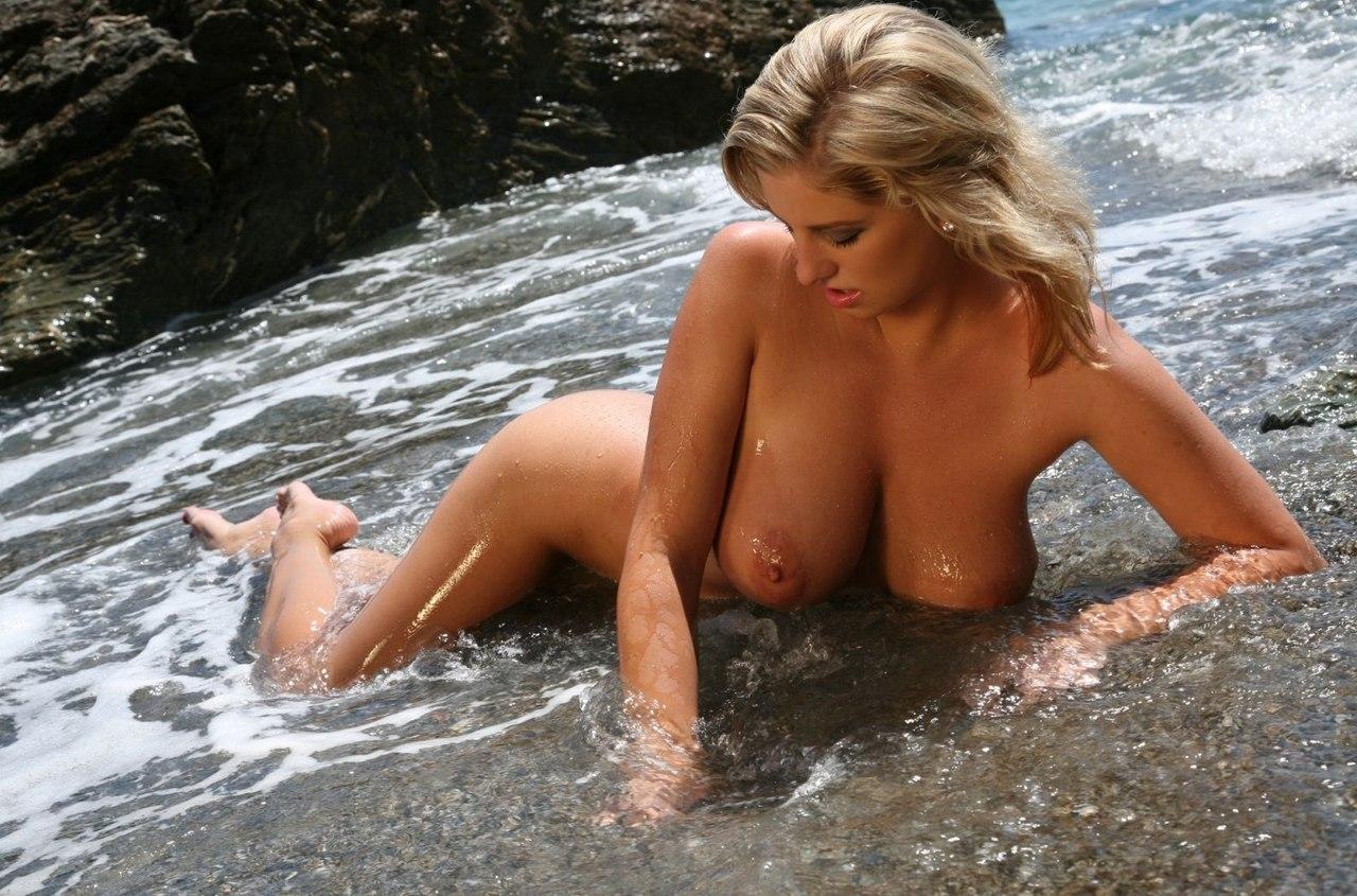 A nice hairy scandinavian blonde outdoor