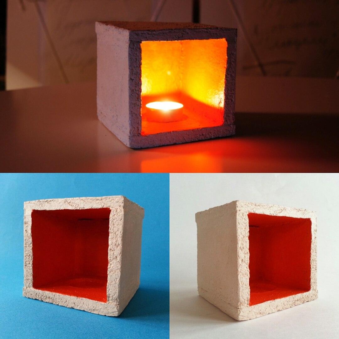 светильник «оранжевый куб»