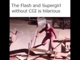 Флеш и Супертня без CGI (VHS Video)