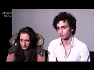 Misfits: Robert Sheehan and Lauren Socha. Awkward situations