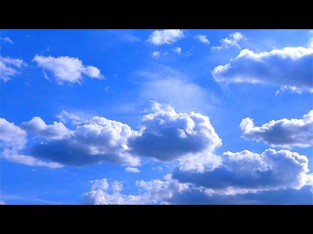Красивые Облака в Голубом Небе. Движение Облаков. Красивое Небо. Футажи для видеомонтажа