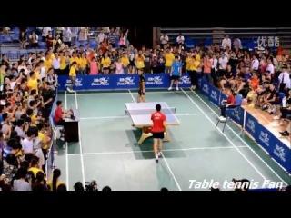 Ma Long vs Zhang Jike Funny Training table tennis