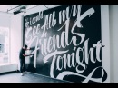 Vitaly x Ben Johnston Friends Pop Up Mural
