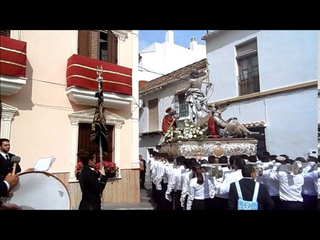 Procesion del Resucitado 2017, ALHAURIN de la TORRE, marchas procesionales banda de musica, 16/04