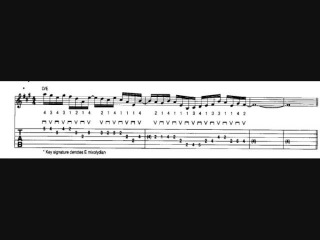 Frank Gambale E mixolydian Fusion Lick with Tab