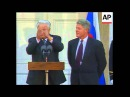 President Clinton and Boris Yeltsin laugh attack